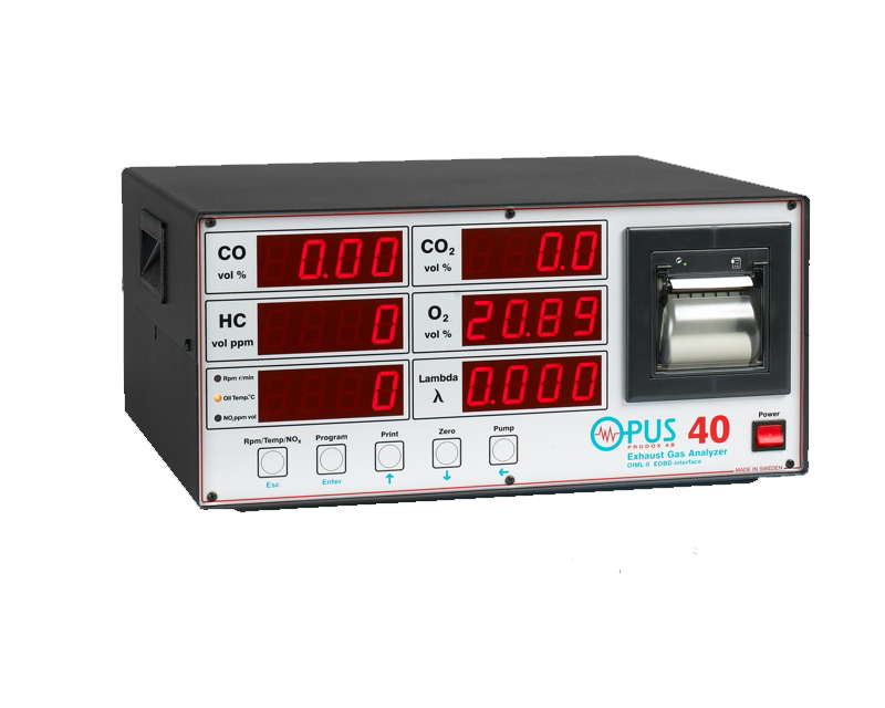 OPUS 40D 4 gas analyser